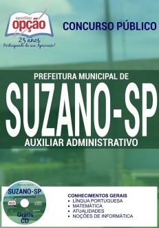 Apostila Concurso Prefeitura de Suzano - SP - Auxiliar Administrativo - 2016