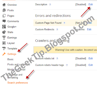 Enable Meta Description In Blogspot