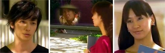 Chiaki and Kiyora talking while Masumi hides