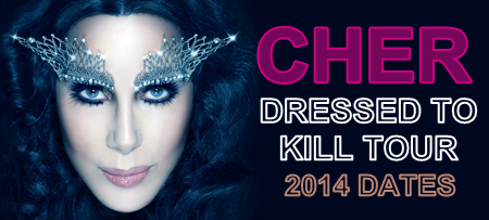Cher 'Dressed To Kill Tour' poster