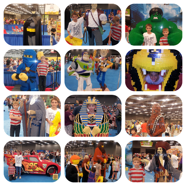 My parent review includes pics of my boys with the LEGO statues all over the KidsFest!