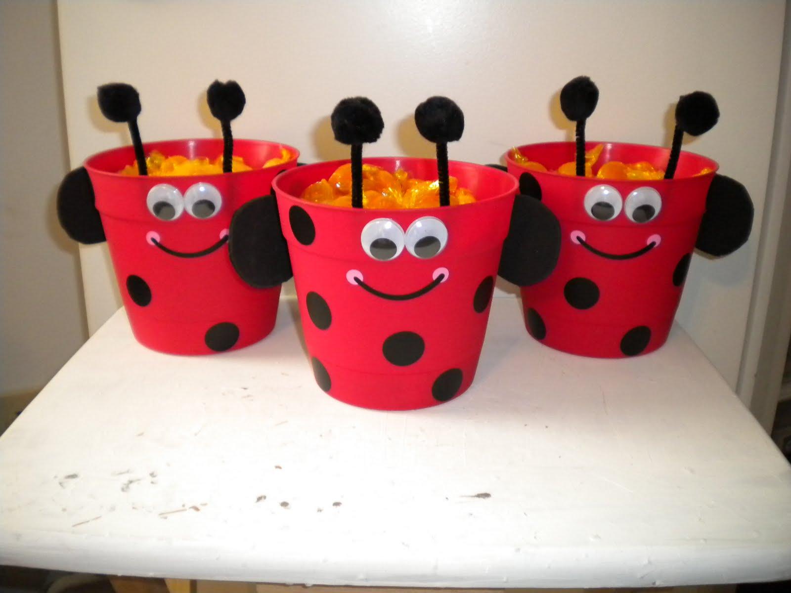 jean's crafty corner: ladybug flower pots for mother's day