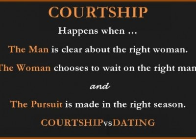 The definition of courting