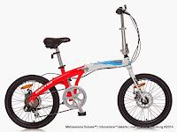 Sepeda Lipat UNITED DOT Disc Brake Alloy Frame 7 Speed 20 Inci