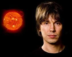 Professor Brian Cox and an image of the sun