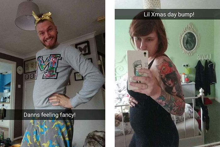 Christmas Day Snapchat