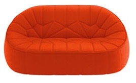 Orange Ottoman Sofa by  Ligne Roset
