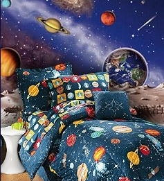 Dirtbin designs boys space and solar system bedroom ideas for Boys outer space bedroom ideas