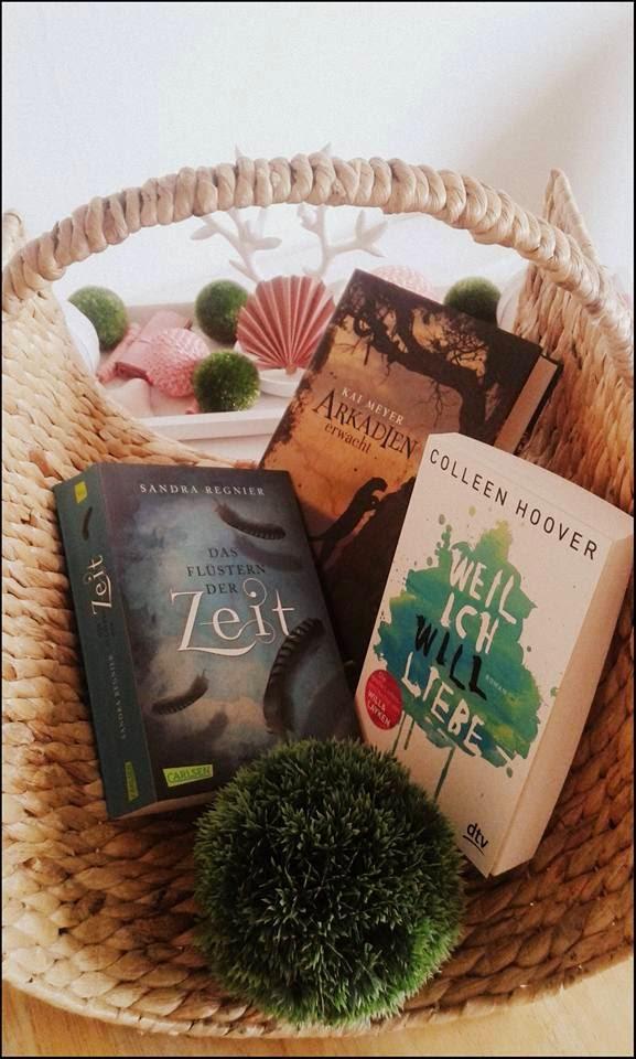 • Neuzugänge • Das Flüstern der Zeit / Sandra Regnier • Arkadien erwacht / Kai Meyer • Weil ich Will liebe / Colleen Hoover