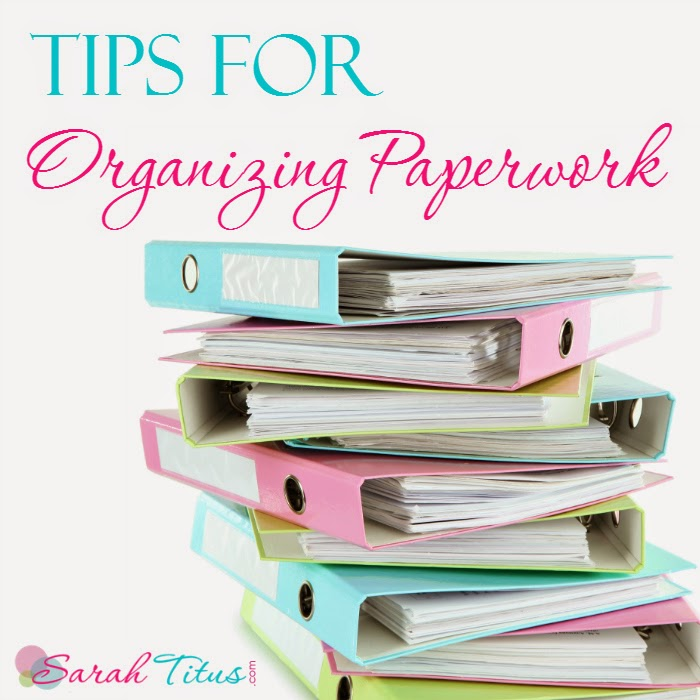 organizing-paperwork tips