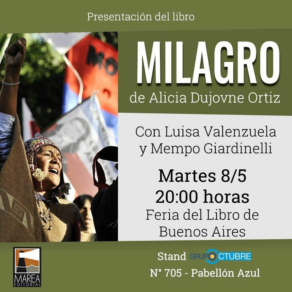 Milagro un nuevo libro por Alicia Dujovne Ortiz