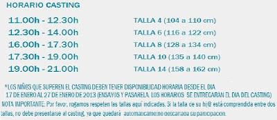 CASTING INFANTIL MODA DE NIÑOS FIMI 77 2013