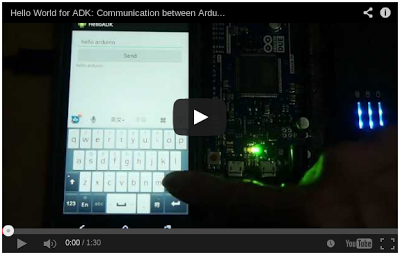 Hello World ADK: Communication between Arduino Due and Android device