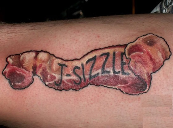 10 Unbelievable Bacon Tattoos  They Must REALLY Love Too