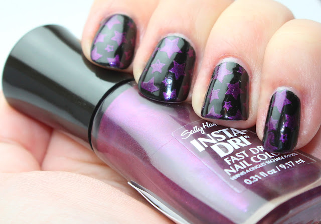 Sally Hansen Insta Dry Pronto Purple stamp mani