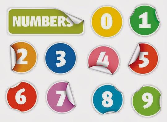 Vectors digital number Stickers