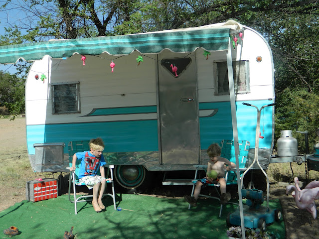 Starlite Classic Campground Colorado retro vacation Just Peachy, Darling