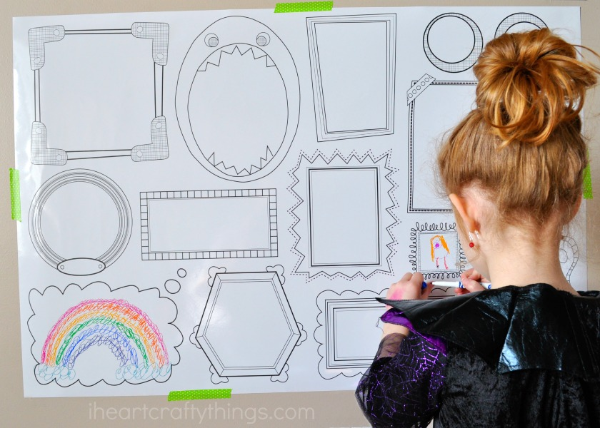 Erasable Frames Wall Decal - A Fun Way to Let the Kids Color on the ...
