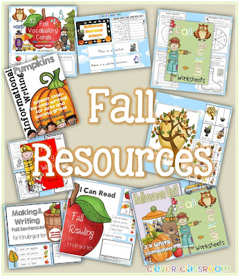 A collection of Fabulous Fall Resources from Clever Classroom