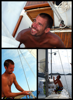 Crew sailing the Caribbean, Winsconsin sailing