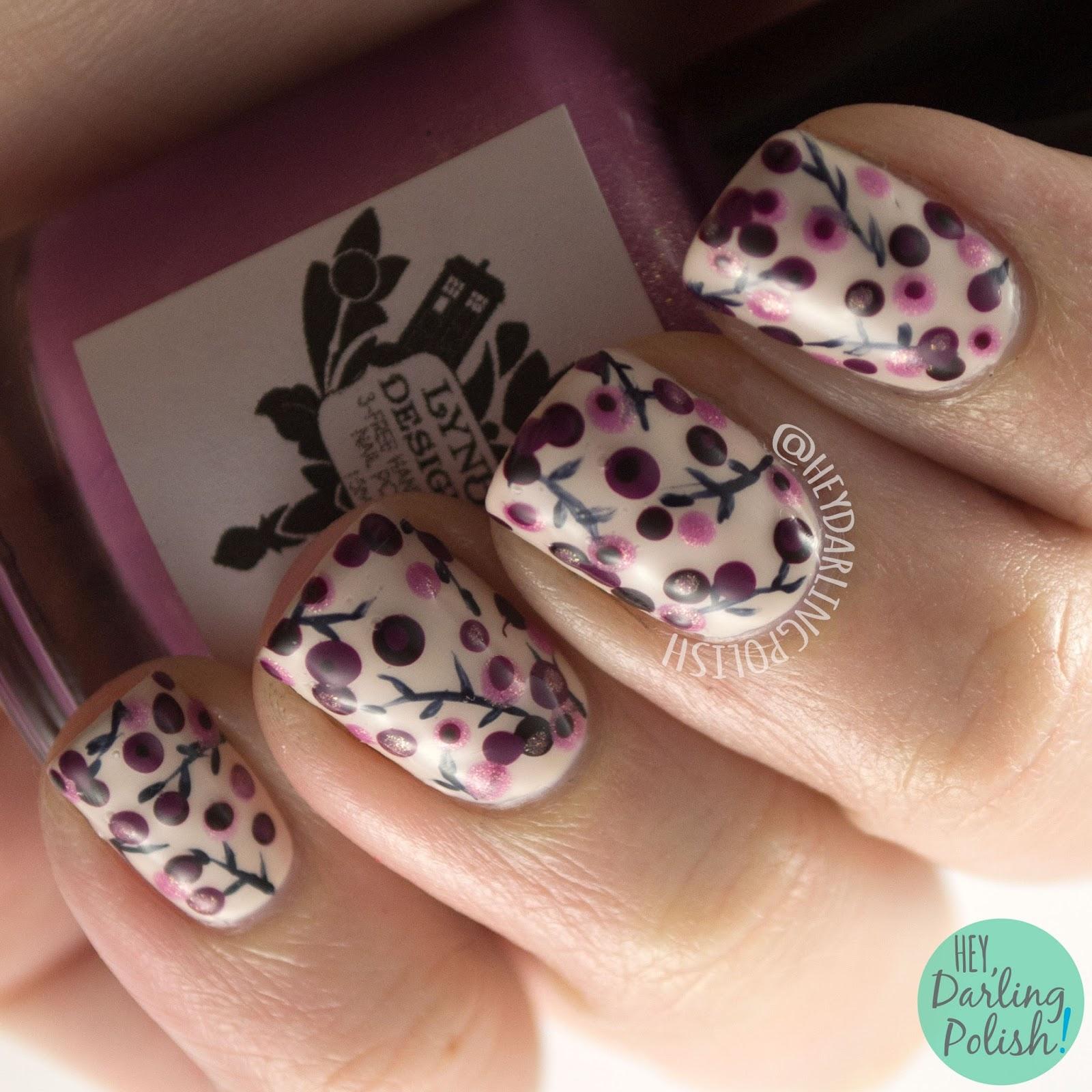 nails, nail art, nail polish, flowers, floral, hey darling polish, polka dots, dotting tools, 31 day challenge 2015,