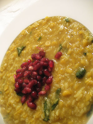Persian Split Pea and Pomegranate Soup