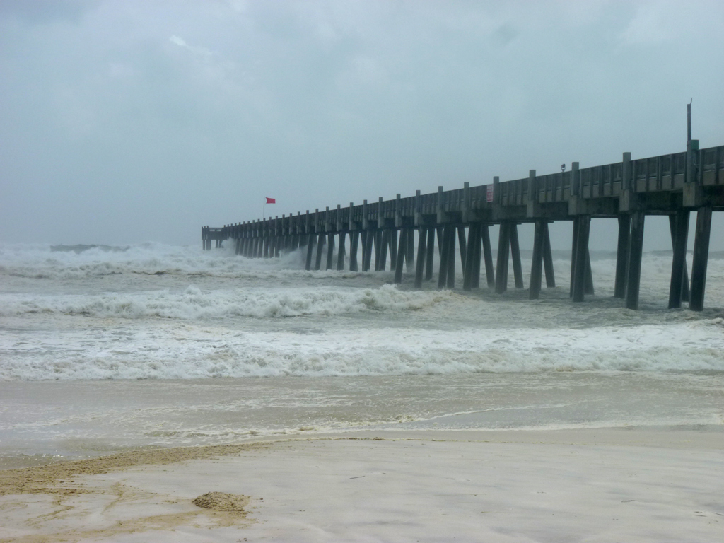 Barrier island girl effects of hurricane isaac monday for Pensacola beach fishing