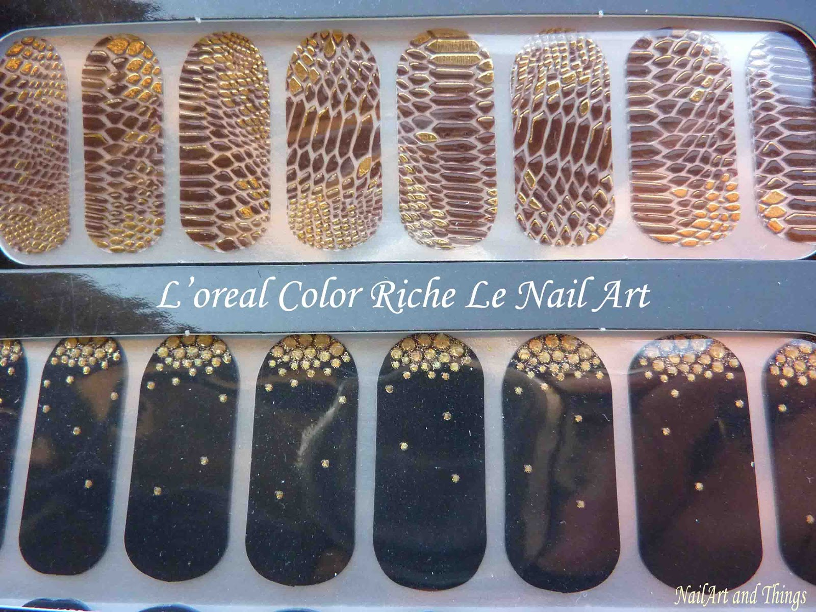 NailArt and Things: L\'oreal Color Rich Le Nail Art Stickers: Review