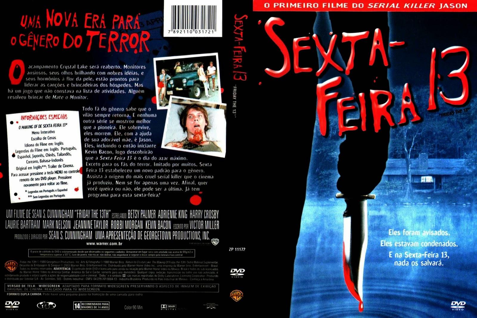 Sexta-Feira 13 Parte 1 DVD Capa