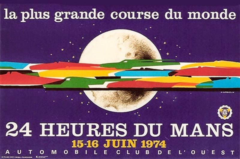 Affiche officielle des 24 Heures du Mans 1974