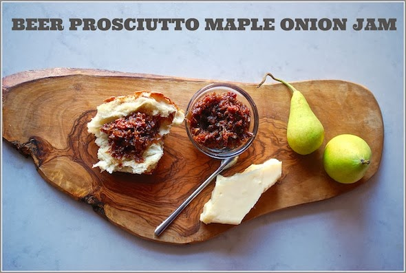 Beer Braised Maple, Prosciutto and Bermuda Onion Jam