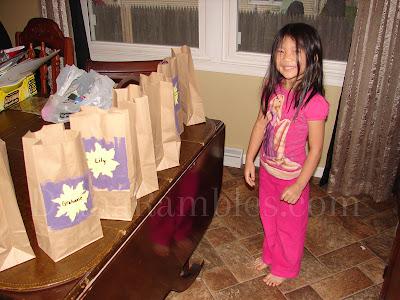 tangled rapunzel gift bag