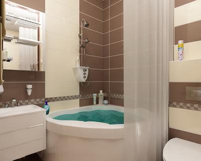 decoración de baño marrón