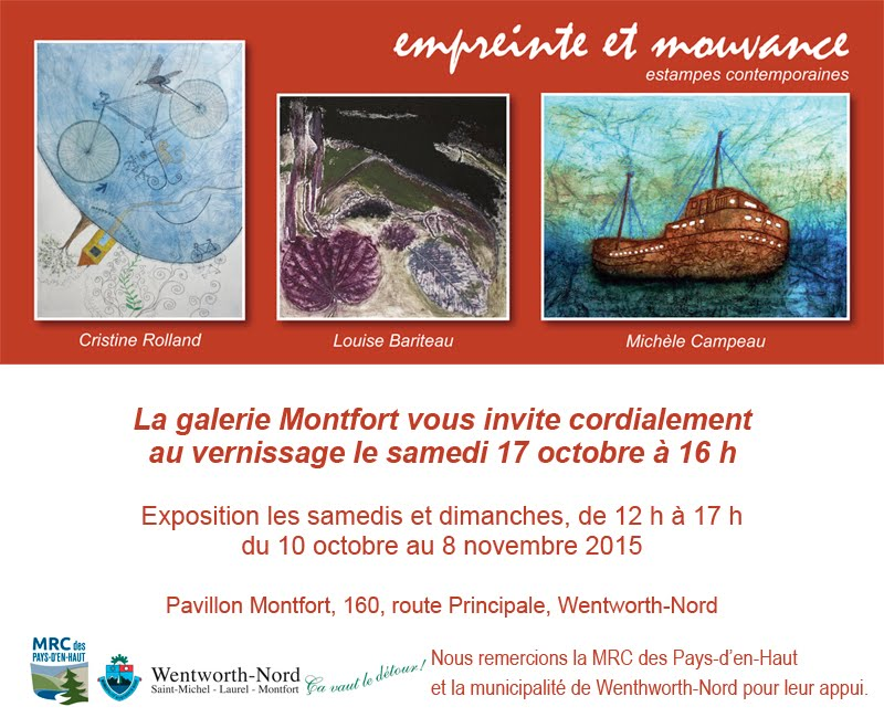 invitation vernissage Galerie Montfort