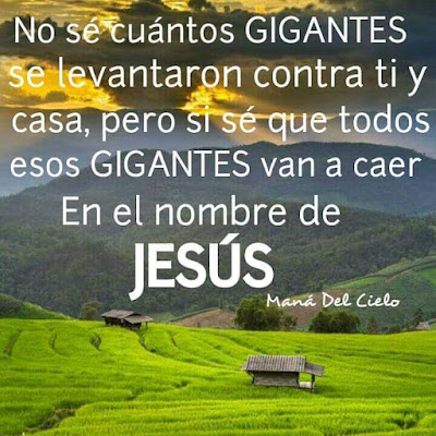LOS GIGANTES VAN A CAER EN EL NOMBRE DE JESÚS - IMAGEN