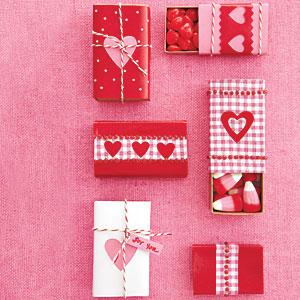 Cajas de dulces para San Valentin