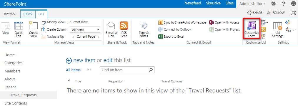 how to create infopath form in sharepoint 2013