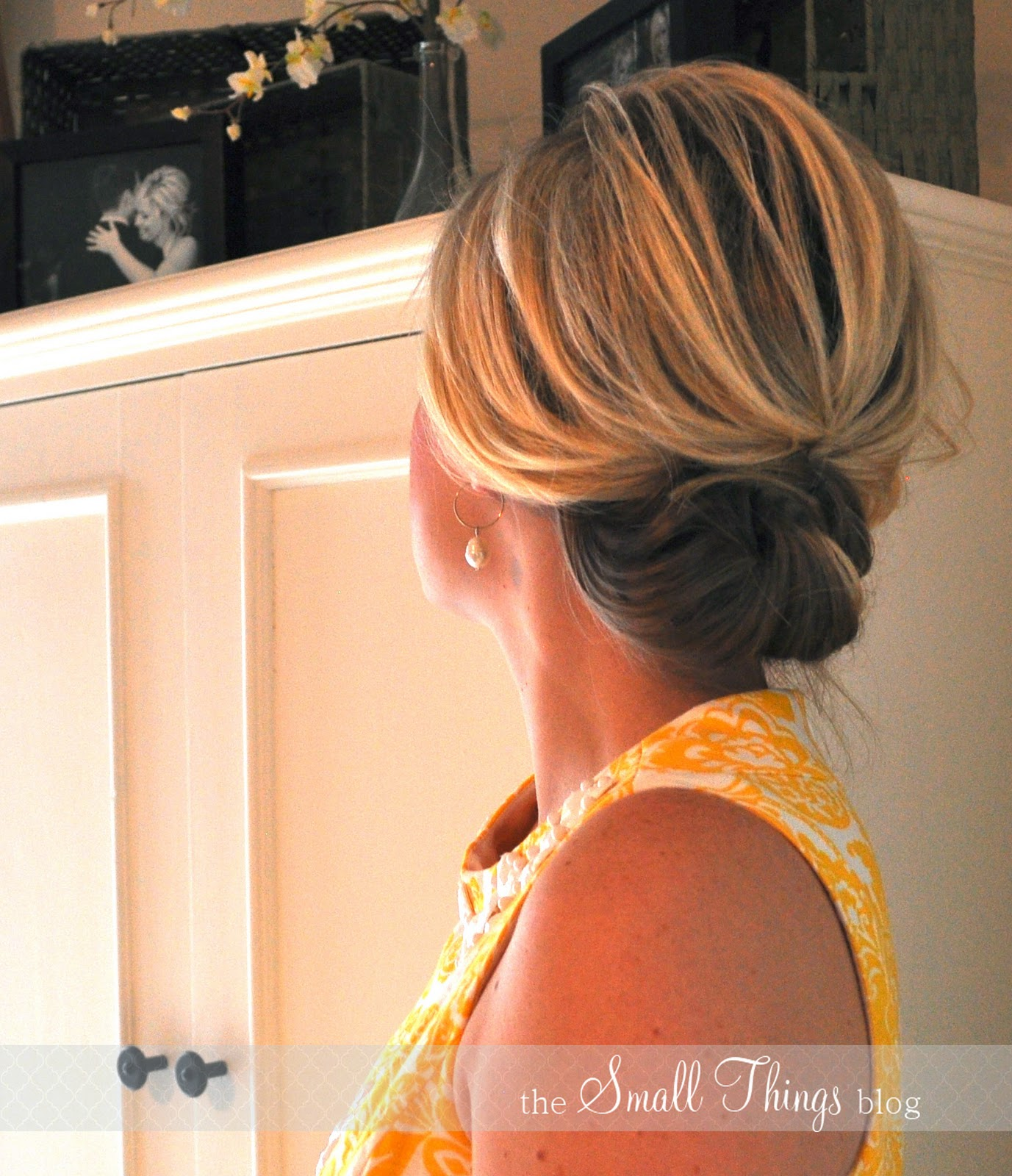 The chic updo the small things blog youll see photos of a cleaner updo and one that i messed up a little bit by rubbing my fingers over it pmusecretfo Gallery