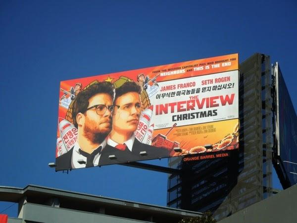 The Interview film billboard