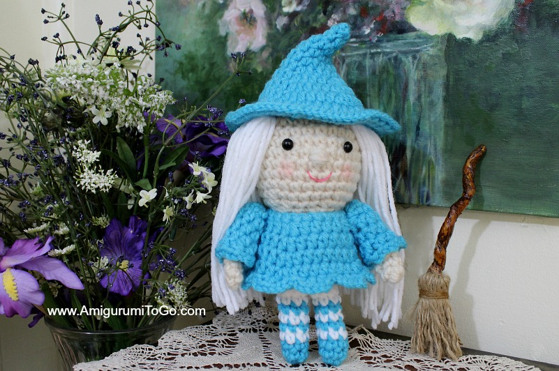 Smallish Witch Free Crochet Pattern ~ Amigurumi To Go