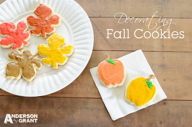 Decorating Fall Cookies | www.andersonandgrant.com