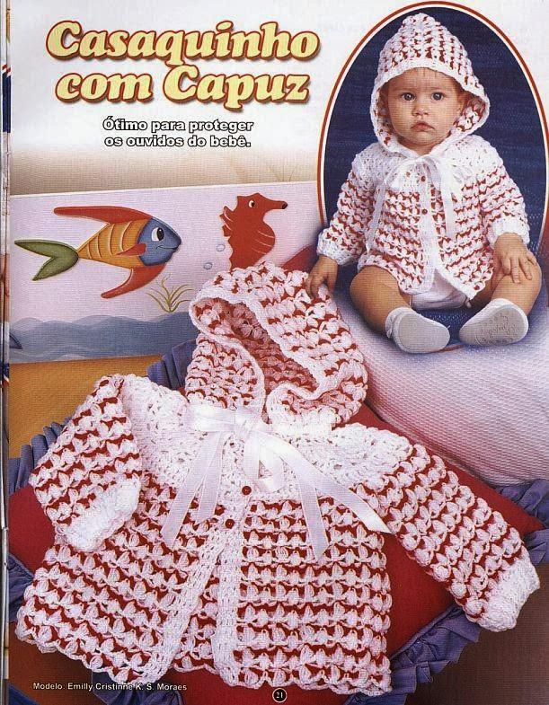 Вязание крючком капюшон на ребенка