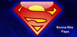 """Cette image montre le logo de superman classique et celebre. Elle accompagne le poeme """"Les heros de notre enfance"""" du Marginal Magnifique qui le publie a l'occasion de la fete des peres."""