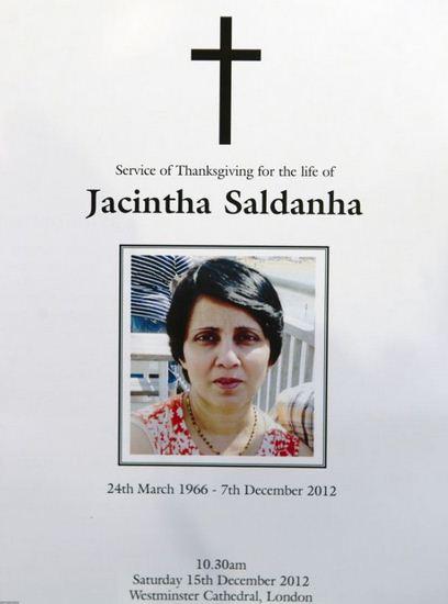Kematian Perawat Kate Middleton, Jacintha Saldanha