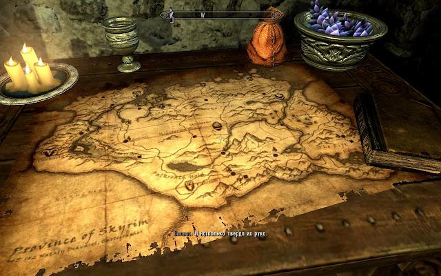 Карта мира Скайрим Skyrim