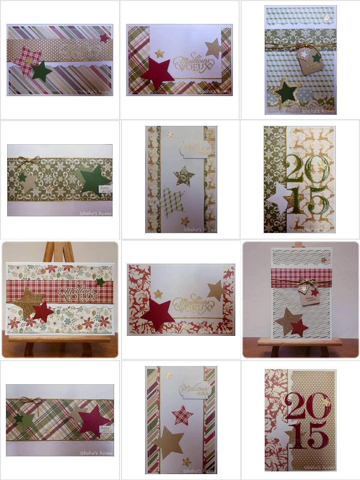 Season greeting set of cards