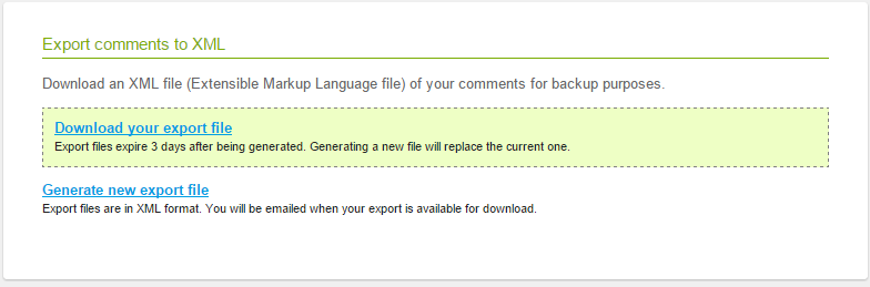 export intensedebate comments xml disqus