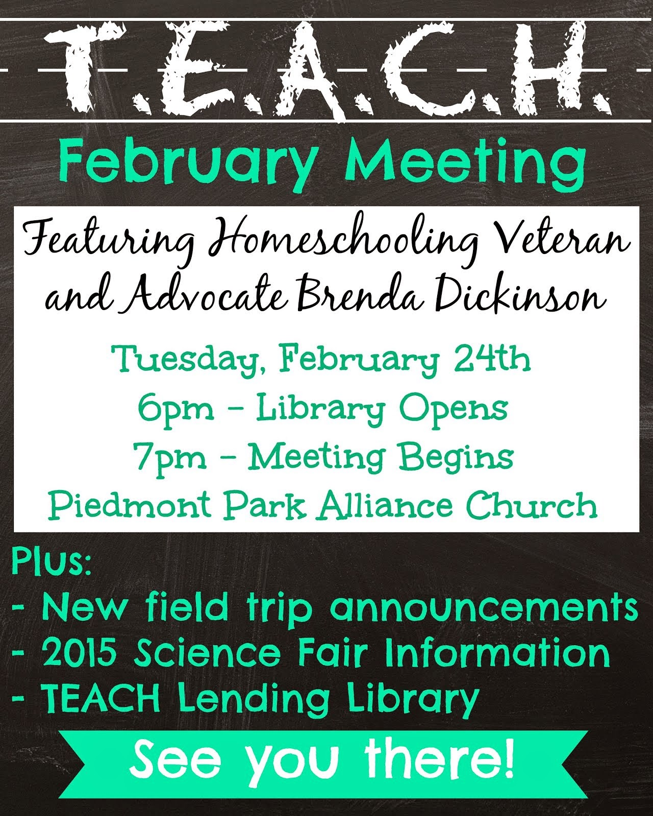 February TEACH Meeting
