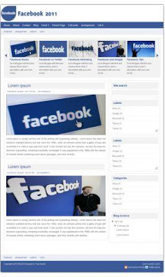 facebook blogger template