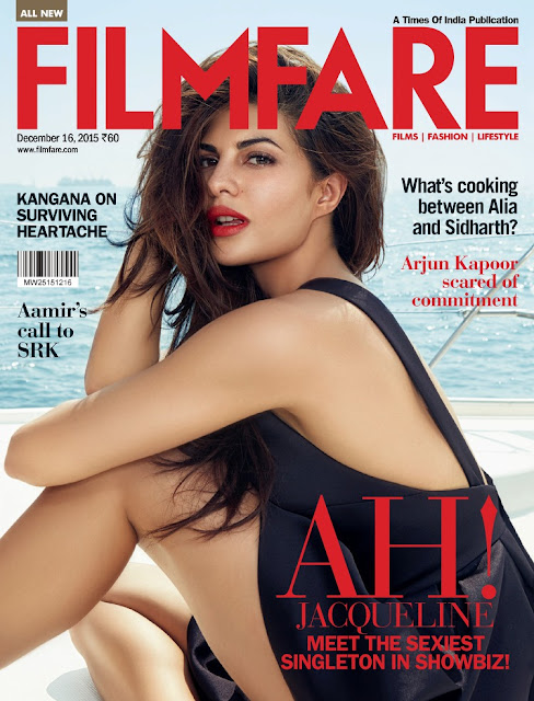 Actress, Model, @ Jacqueline Fernandez - Filmfare India, December 2015